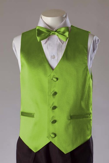 CloseOut Lime Green Satin Vest
