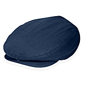 Cotton Ivy Newsboy Cap in Navy