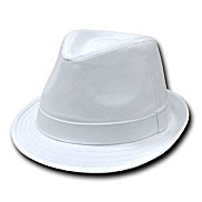 Infant / Toddler Fedora Cotton Hat - White