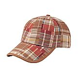 Youth Brown / Red Plaid Golf Hat