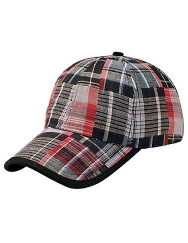 Youth Plaid Golf Hat - Black